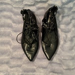 """WHBM Pointy Toe """"Belle"""" Flats"""